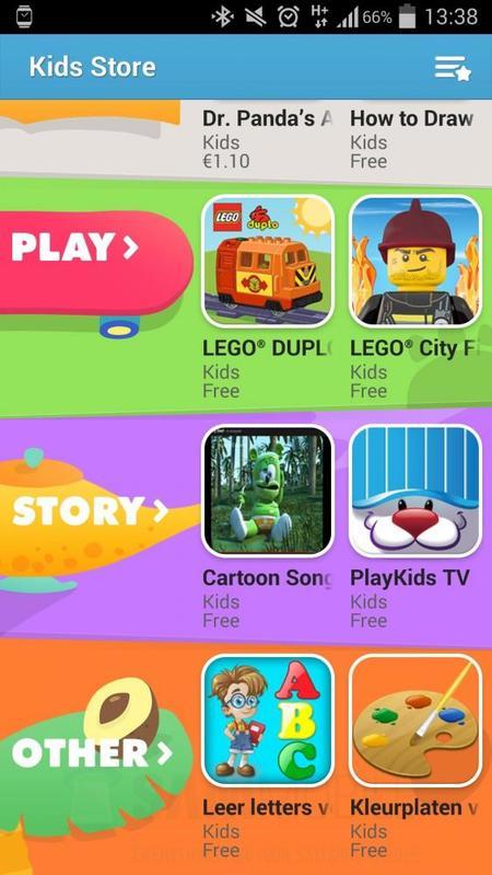 """La nueva tienda de Samsung apps """"Kids Store"""""""