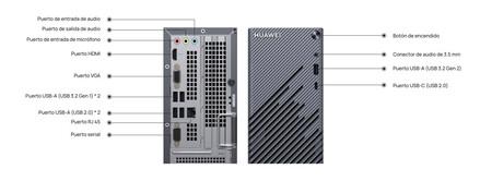 Huawei Matestation S Puertos