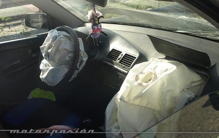 Airbags tras un siniestro vial