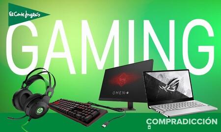 Ofertas gaming en El Corte Inglés: portátiles, monitores, teclados y auriculares para jugones a precios de chollo