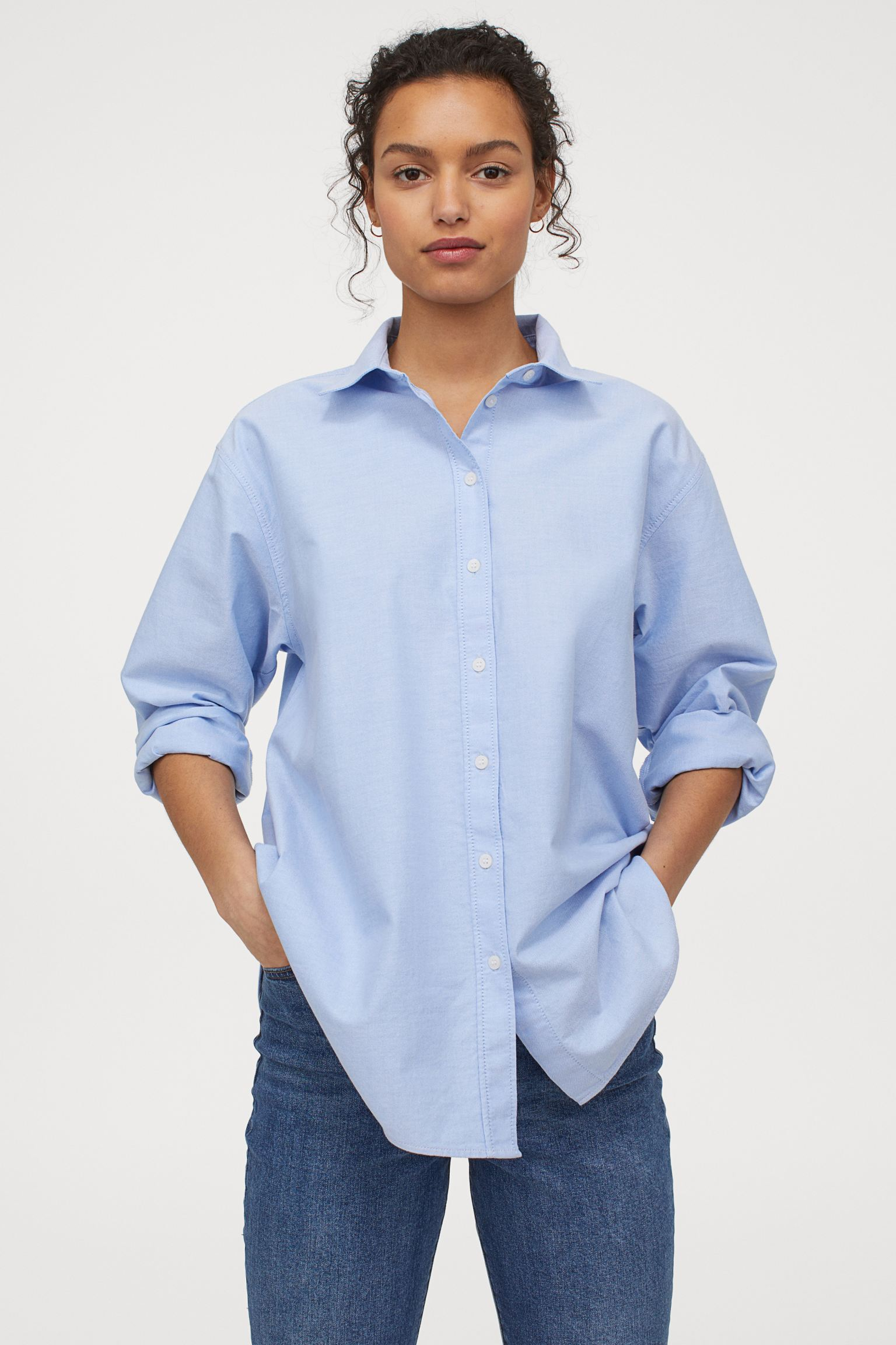 Camisa Oxford oversize