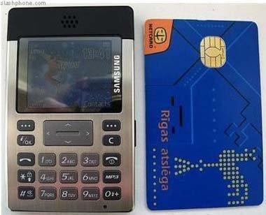 Samsung SGH-P300: del tamaño de una tarjeta de crédito