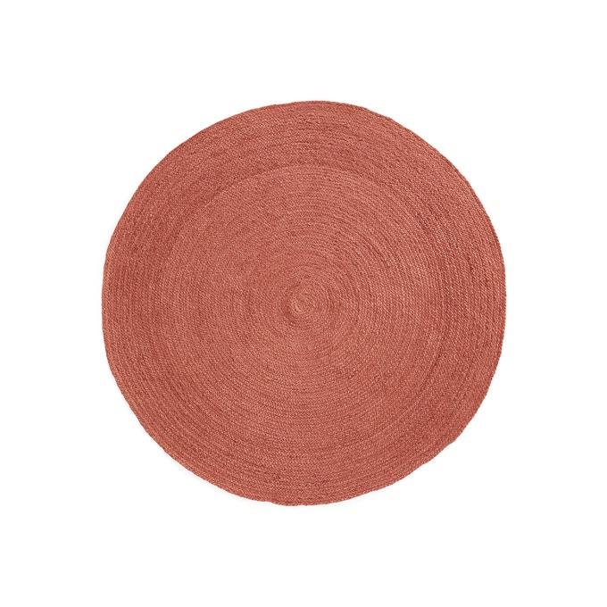 Alfombra redonda de yute a color Bissaka Ø160 cm