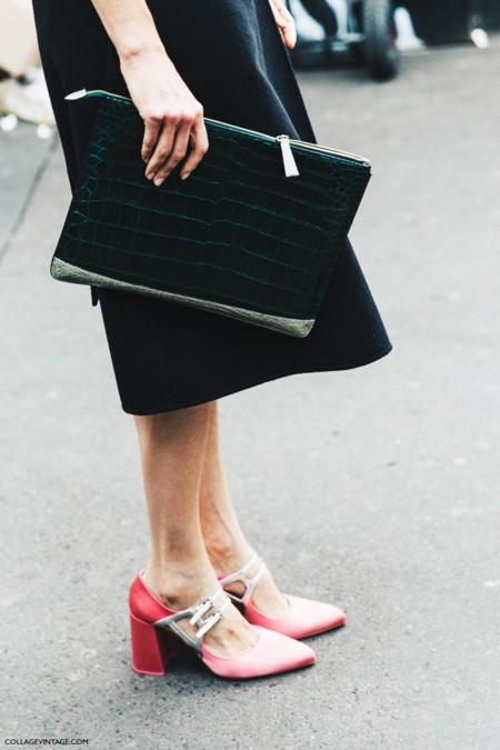 Pfw Paris Fashion Week Spring Summer 2016 Street Style Say Cheese Miu Miu Shoes 790x1185
