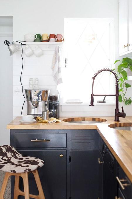 Tunear Cocinas Antes Y Despues. Beautiful Cocina Con Muebles En Azul ...