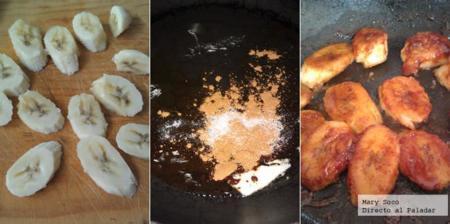 Cómo hacer plátanos caramelizados con ron y canela