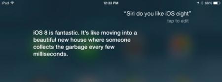 Siri ya está al corriente de iOS 8, pero se queja de no haber tenido más protagonismo en la WWDC14