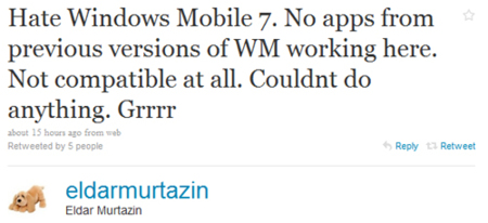 Windows Mobile 7, ¿incompatible con las aplicaciones existentes?