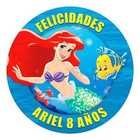 Oblea Tartas Sirenita Ariel