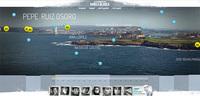 Fotografía panorámica de 275 km de la costa gallega
