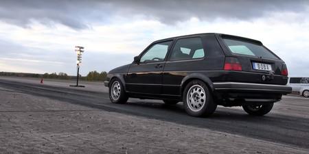 Este brutal Volkswagen Golf II de 1.250 CV puede con cualquier deportivo... y te lo enseña en vídeo
