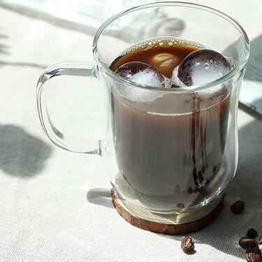 Cinco juegos de vasos térmicos de vidrio con doble pared para mantener el café caliente o frío y disfrutarlo al máximo