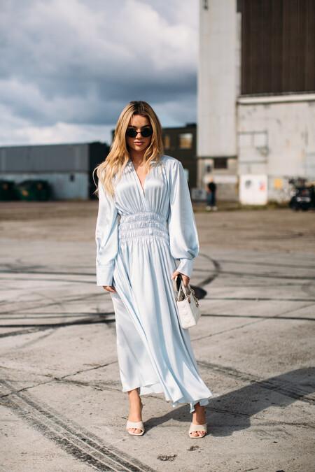 Street Style Vestido Maxi Entretiempo 2021 06