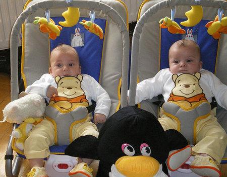La foto de tu bebé: los gemelitos David y Adrián
