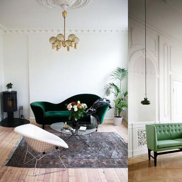 17 ideas para colocar un sofá de color verde en casa sin hacer el ridículo