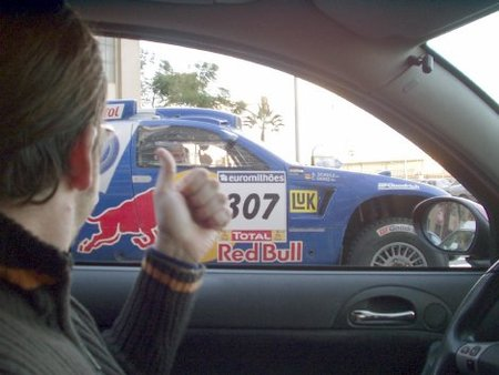 El Dakar tenía que pasar por Málaga, hoy día de Reyes