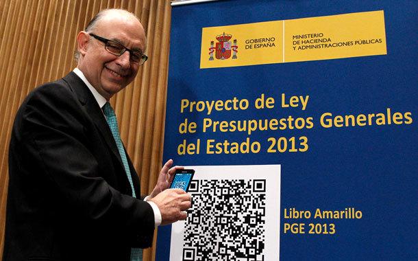 Cristobal montoro con los presupuestos de 2013