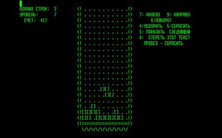 Tetris cumple 35 espléndidos años, recordamos su versión original con un alucinante modo texto