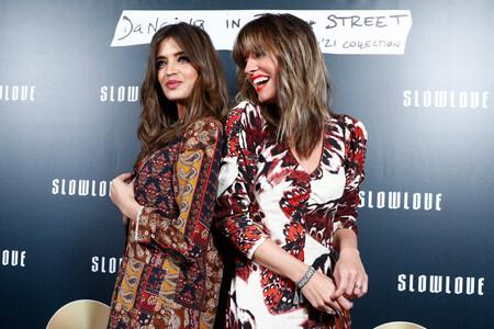 Sara e Isabel derrochando complicidad durante la presentación de Slow Love
