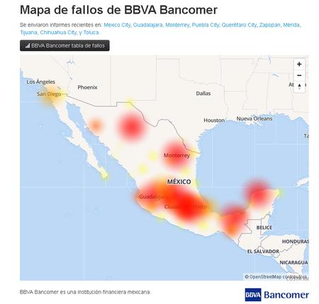 Fallas Bbva Bancomer Mexico