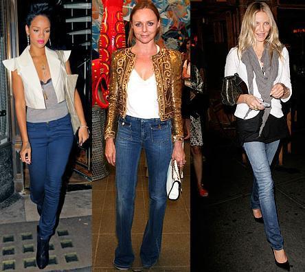 Looks de noche con vaqueros: jeans para ir de fiesta