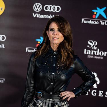Juana Acosta nos da una lección de estilo en la alfombra roja de la clausura del Festival de Sitges 2020: la camisa negra de piel la vas a querer en tu armario
