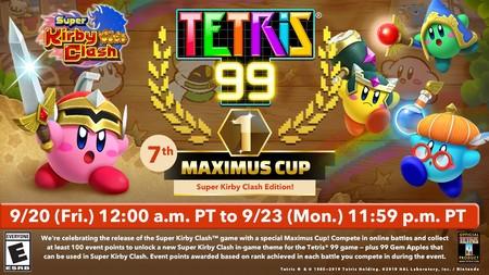 Tetris 99 dedicará su nuevo evento temporal a Super Kirby Clash para obtener un tema especial