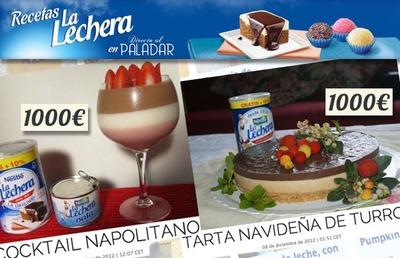 Dos nuevos ganadores de 1.000 euros en nuestro concurso de recetas con La Lechera