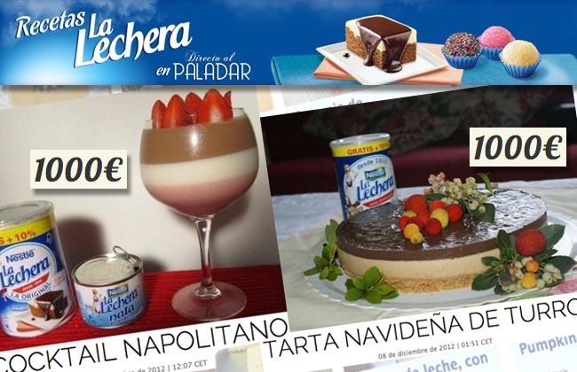 La Lechera: ganadores diciembre 2012