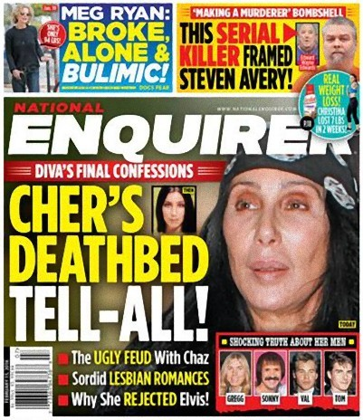 Cher, en las últimas