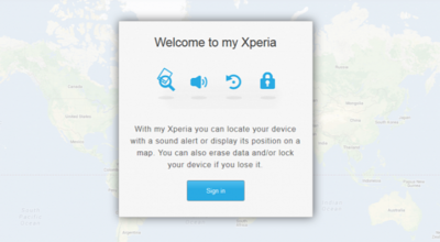 Sony lanza mundialmente su servicio de localización móvil My Xperia