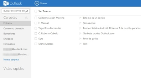 Algunos usuarios de Outlook.com pierden correos al activar la nueva interfaz