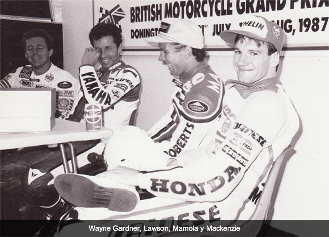 Niall Mackenzie en el GP de Gran Bretaña del 87