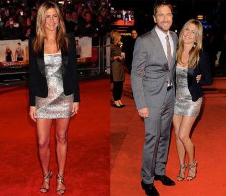Jennifer Aniston en la premiere de The Bounty Hunter en Londres