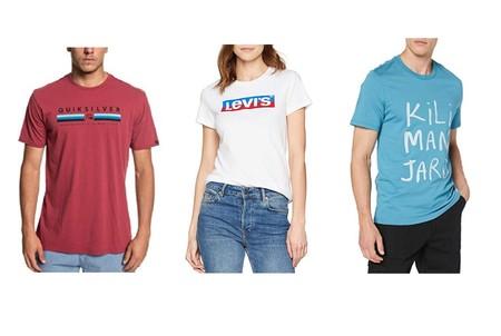 Ofertas en camisetas y polos Levi's, Jack & Jones, The North Face y Quiksilver en Amazon