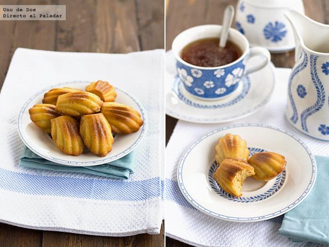 Receta de madeleines de naranja y cardamomo