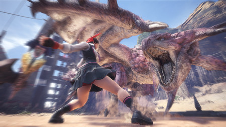 Monster Hunter World fecha el próximo evento de Street Fighter: en mayo, Sakura se une a la caza