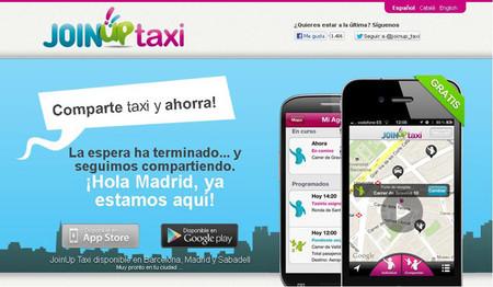 JoinUp Taxi, la aplicación para compartir taxi, ya está disponible en Madrid