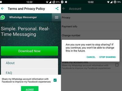 """WhatsApp podría comenzar a compartir datos con Facebook """"para mejorar la experiencia"""""""