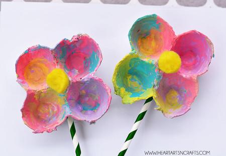Manualidades Primavera Flores Carton Huevo