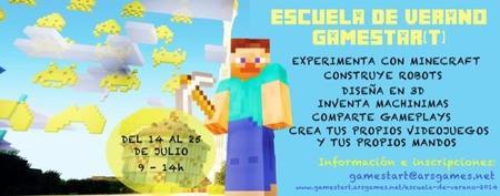 La escuela de verano de Gamestart para aprender a experimentar con Minecraft