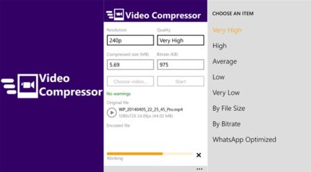 Con Video Compressor puedes comprimir fácilmente un vídeo HD para enviarlo por WhatsApp