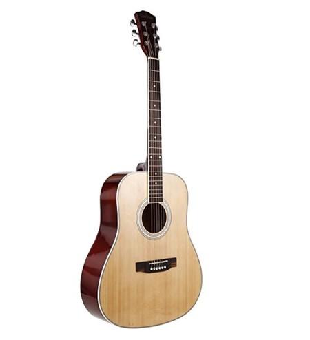 Cupón de descuento del 30% en esta guitarra acústica de madera ideal para principantes: se queda en 66,49 euros en Amazon