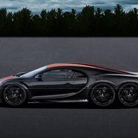 Este Bugatti Chiron Super Sport 300+ de seis ruedas es la versión más salvaje que verás... en un universo paralelo