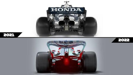 Formula 1 2022 autos regulaciones comparación 4