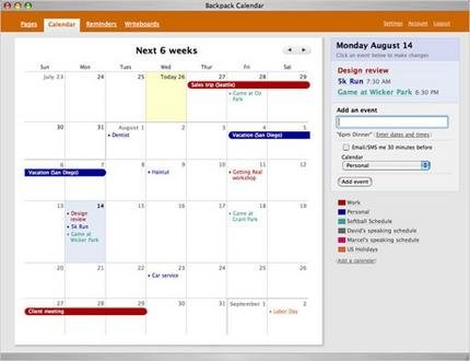 Backpack Calendar presentado