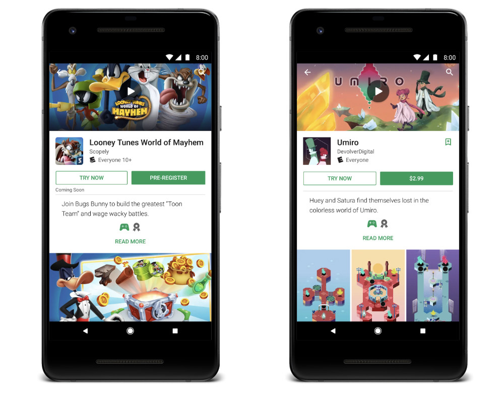 Google Play already allows you to test paid games and upcoming releases