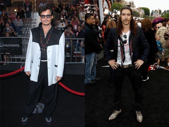 Johnny Depp y Óscar Jaenada