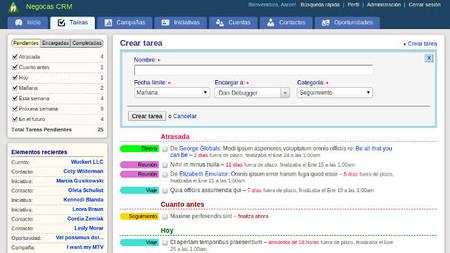 Cuentas Negocas CRM