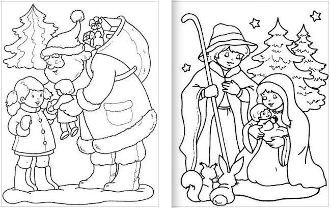 Dibujo De Postal De Navidad Para Colorear Tarjetas Navideas